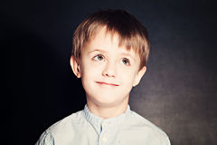 Cute Child School Boy on Background royalty free stock photography