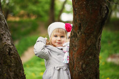 Cute child shone with happiness,  charming smile Royalty Free Stock Photos