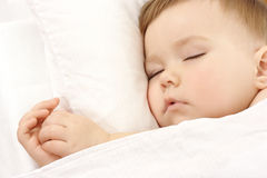 Cute child is sleeping Stock Photos