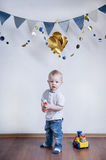 Cute child with toys Royalty Free Stock Images