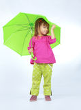 Cute child with umbrella Stock Photo