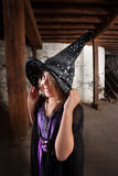 Cute Child Witch Stock Photo