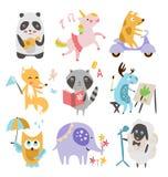 Cute Childish Animals Vector Set Stock Image