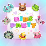 Cute childish Birthday card template Royalty Free Stock Photography