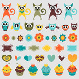 Cute childish elements Royalty Free Stock Photos