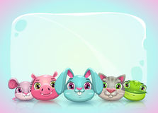 Cute childish horizontal banner template Royalty Free Stock Photos