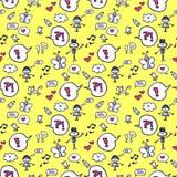 Cute childish seamless pattern Royalty Free Stock Photography