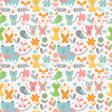 Cute childish seamless pattern Royalty Free Stock Photo