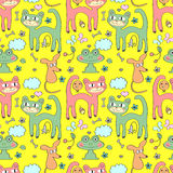 Cute childish seamless pattern Stock Photography