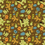 Cute childish seamless pattern Stock Photo