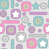 Cute childish seamless pattern Royalty Free Stock Image