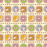 Cute childish seamless pattern Royalty Free Stock Photos
