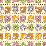 Cute childish seamless pattern Royalty Free Stock Photos