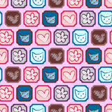 Cute childish seamless pattern Stock Photos