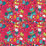 Cute childish seamless pattern Royalty Free Stock Photography