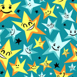 Cute seamless pattern with stars Stock Photo