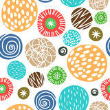 Cute children background with polka dots. Seamless pattern vector Stock Image