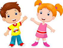 Cute children cartoon Royalty Free Stock Images