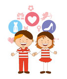 Cute children Stock Images