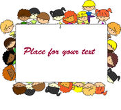 Cute children, frame,vector Stock Photo