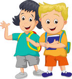 Cute children going to school Royalty Free Stock Photo
