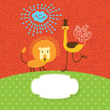 Cute children greeting card Stock Photo