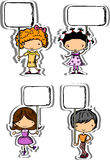 Cute children hold frames,vector Stock Images