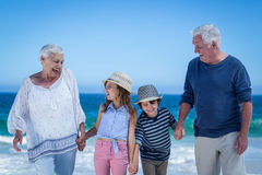 Cute children holding grandparents hands Royalty Free Stock Photography