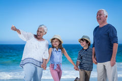 Cute children holding grandparents hands Stock Photography