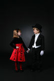 Cute children holding hands Stock Photos