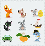 Cute children Icons. Icons Vector Collection royalty free illustration
