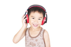 Cute children listen to music Royalty Free Stock Photo