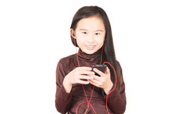Cute children listen to music Royalty Free Stock Photography
