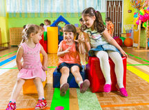 Cute children playing in gym Stock Photo