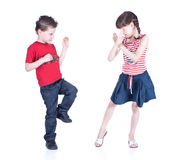 Cute  children playing karate Stock Photo