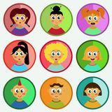 Cute children portraits collection Royalty Free Stock Photos