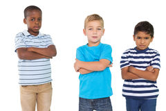 Cute children pouting at camera Royalty Free Stock Image
