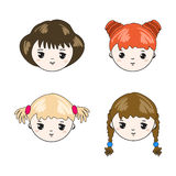 Cute children's faces. Royalty Free Stock Photo