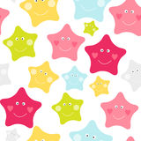 Cute Children`s Seamless Pattern Background with Stars Vector Illustration. EPS10 Royalty Free Stock Images