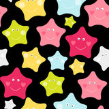 Cute Children`s Seamless Pattern Background with Stars Vector Illustration. EPS10 Royalty Free Stock Photo