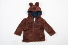 Cute children's winter jacket Royalty Free Stock Image