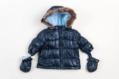 Cute children's winter jacket Royalty Free Stock Photo