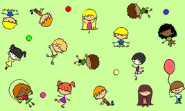 Cute children, seamless texture vector Stock Images