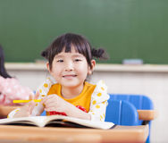 Cute children studying in a classroom Royalty Free Stock Photos