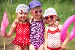Cute children in summer Royalty Free Stock Photography