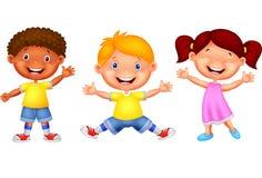 Cute children waving hand Stock Images