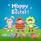 Cute children wearing Easter theme costumes Stock Image