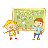 Cute childrens labels. stylish in motion with speech bubble. The file is saved the version AI10 EPS. This image contains transpare Royalty Free Stock Image