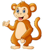Cute chimpanzee cartoon Royalty Free Stock Photography