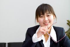 Cute chinese businesswoman Royalty Free Stock Photography